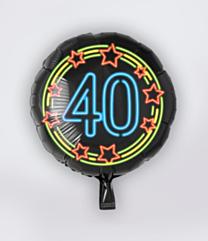 Neon Folieballon 40 jaar
