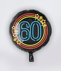 Neon Folieballon 60 jaar