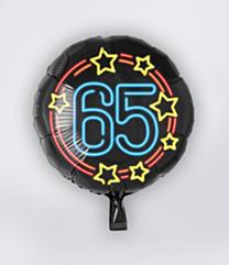 Neon Folieballon 65 jaar