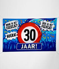 XXL Gevel vlag - 30 jaar