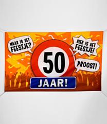 XXL Gevel vlag - 50 jaar