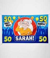 XXL Gevel vlag - Sarah