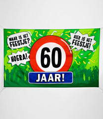 XXL Gevel vlag - 60 jaar