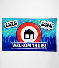 XXL Gevel vlag - welkom thuis