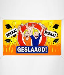 XXL Gevel vlag - geslaagd