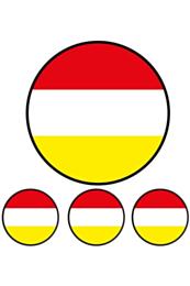 4 st. applicaties cirkels Oeteldonk