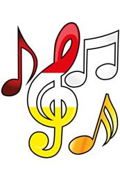 4 st. applicaties muzieksleutel Oeteldonk