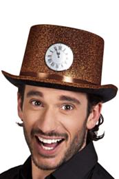 Hoge hoed met klok