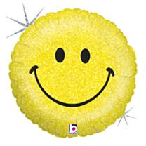 Folieballon Smiley Holographic
