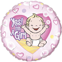 Folieballon Yep! Am Girl