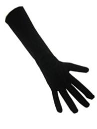 Handschoenen stretch zwart luxe nylon (Piet) XL