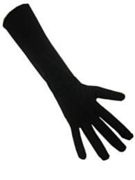 Handschoenen stretch zwart luxe nylon (Piet) XXL