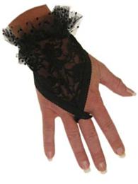 Vingerhandschoen kort zwart + lusje
