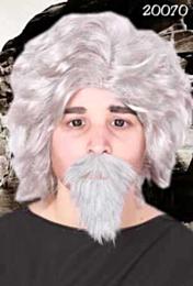 Snor + baard professor grijs