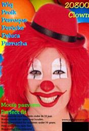 Clownspruik rood