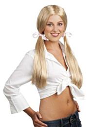 Pruik schoolgirl blond