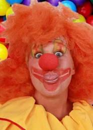 Schuimneus clown rood per stuk