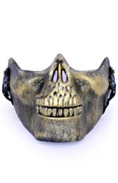 Halfmasker onderkaak skull goud