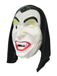 Masker dracula + hoofddoek (Halloween)