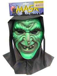 Vynil masker heks + doek (Halloween)