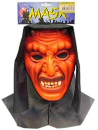 Vynil masker duivel + doek (Halloween)