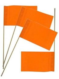 Papieren zwaaivlaggetjes oranje