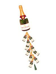 Champagnefles met licht en knalgeluid