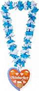 Hawaii krans blauw/wit