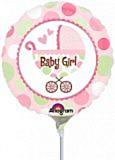 Mini Folieballon Baby Girl Buggy