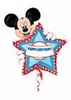 Folieballon Mickey hbday personalize