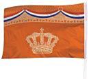 Gevelvlag Oranje Kroon 100x150cm