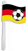 Ratel Vlagvorm met voetbal Duitsland