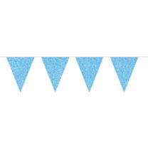 Vlaggenlijn glitter blauw 6m