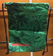 Rugtas wietbladeren groen