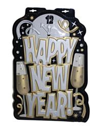 Wanddecoratie 53cm Happy New Year!