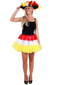 Petticoat rood/wit/geel