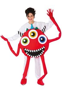 Monster kostuum rood