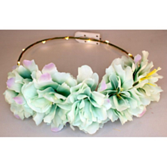 LED Bloemenkroon glow pioen groen