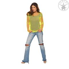 Netshirt neon geel