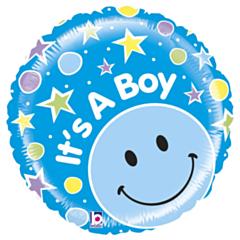 Folieballon Mighty Smiley Boy