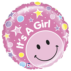 Folieballon Mighty Smiley Girl