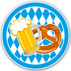 LED Party Badge Oktoberfest
