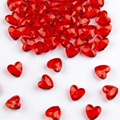 Tafel Diamanten Rood Hart 12mm