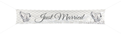 Banier 300x60cm Just Married
