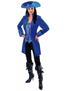 Markiezin Mantel kobalt blauw