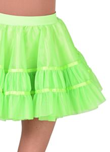 Petticoat kort neon groen