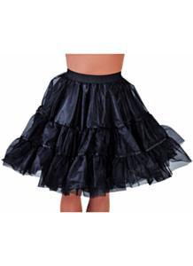 Petticoat knielengte zwart