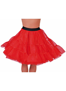 Petticoat knielengte rood