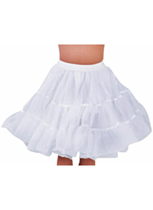 Petticoat knielengte wit