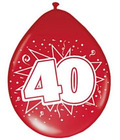Ballonnen 30cm 40 Met Robijn